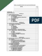 Formato Elaboracion de Un Plan de Negocio de Exportacion