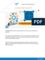 Test Automation & Agile Test Quadrants