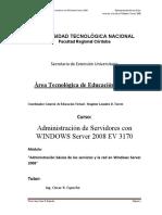Servidores W2008 Unidad 1