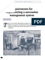 Implementing a Succession System