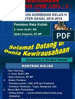 KEWIRAUSAHAAN AGRIBISNISKELAS H 2015-2016.ppt