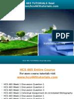 HCS 465 TUTORIALS Real Education/hcs465tutorials.com
