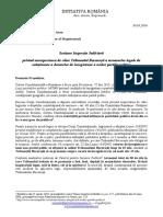 Sesizare Inspecția Judiciară  privind nerespectarea de către Tribunalul București a termenelor legale de soluționare a dosarelor de înregistrare a noilor partide politice
