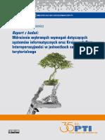 Wdrożenie wybranych wymagań dotyczących systemów informatycznych oraz Krajowych Ram Interoperacyjności w jednostkach samorządu terytorialnego