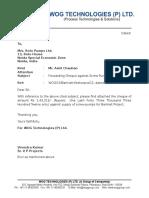 Cover Letter Cheque Roto Pump