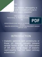 Jurnal Reading Retinopati Diabetik Stase Mata