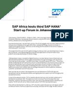SAP Startup Focus Forum JHB