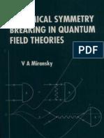 Miransky, Dynamical Symmetry Breaking in Quantum Field Theories
