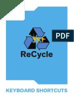 Keyboard Shortcuts Recycle Manual