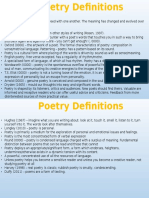 poetry definitions
