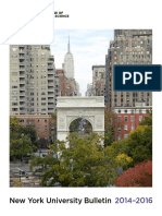 NYU CAS Bulletin 2014-2016