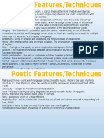 poetry features and techniques