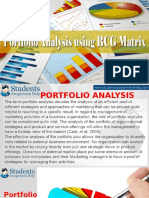 Portfolio Analysis Using BCG Matrix