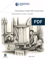 The Second Trial Monitoring Report of High-Profile Criminal Cases