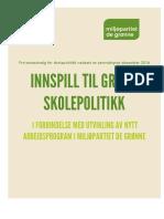 Grønn skolepolitikk