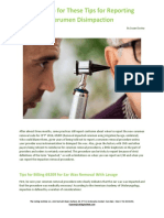Listen Up for These Tips for Reporting Cerumen Disimpaction