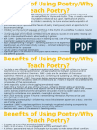 benefits of teaching poetry - why teach poetry