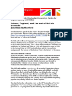 Jonathan Rutherford The Union and the end of British Scotland