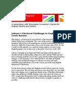 Lewis Baston Labour's Electoral Challenge in England