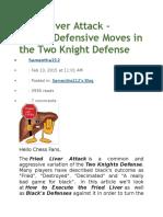 Fried Liver Attack-Black Defensive Move