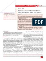 Anterior Chamber Foldable Phakic Intra Ocular Lens Safety and Efficacy