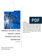 Energy Security and Energy Union Perspectives for Azerbaijan CESD Policy Paper