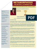 District 29 Newsletter March 2016