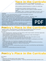 poetrys place in the curriculum