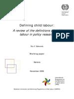 defining child labour en