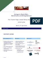 Verlage im Social Web – Benchmarks und Erfolgsfaktoren
