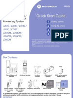 MOTOROLA L702CM-Quickstartguide English