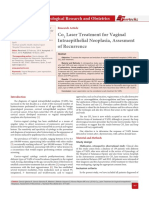 Co2 Laser Treatment for Vaginal Intraepithelial Neoplasia, Assesment of Recurrence
