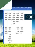 Jadwal Mata Kuliah Semester2