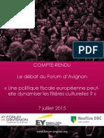 Compte-rendu du débat EY sur la fiscalité