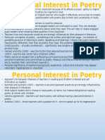 personal interest in poetry