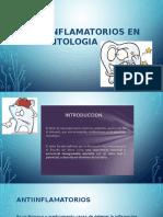 Antiinflamatorios en La Odontologia
