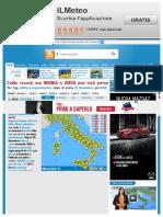 IL METEO Meteo e Previsioni Del Tempo Italia e Mondo