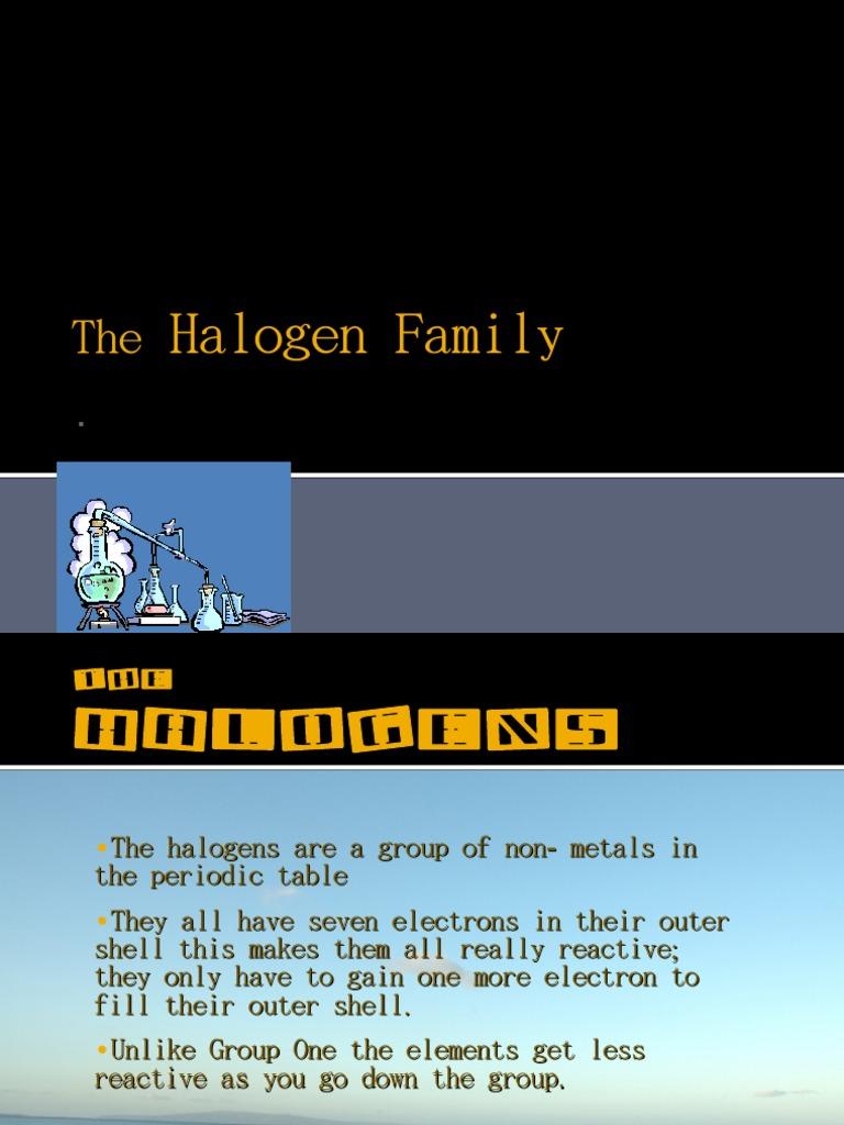 The Halogen Family Chlorine Iodine