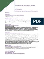 BIP 16 (du 16 au 22 avril 2016)