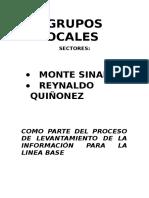 Sistematización de Los Grupos Focales de Monte Sinaí Word