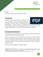Nota Técnica_001_2015_Formação Profissional Contínua No Código Do Trabalho