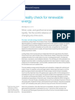 A Reality Check for Renewable Energy