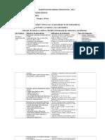 Planificacion de Las Unidades 2016 Matematica