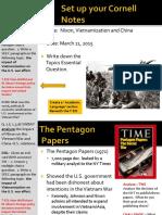 Day 6 - 2015 - Early Nixon Administration - Vietnamization and China.pdf