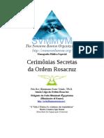 Cerimônias Secretas Da Ordem Rosacruz