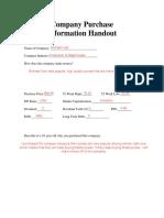 company purchase handout  kors