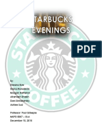 starbucks evenings marketing plan