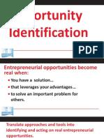 KDI PROJECT WORK 5 Opportunity Identification