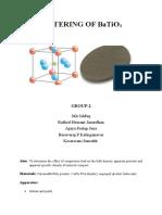 Group 2-Sintering Report on barium titanate