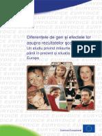 Diferenţele de gen şi efectele lor asupra rezultatelor şcolare